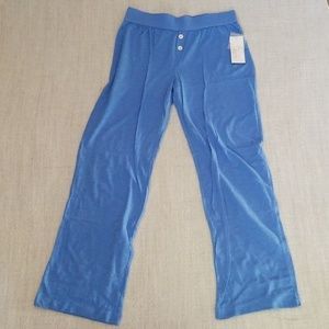 NWT Blue Pajama Pants with Button Detail